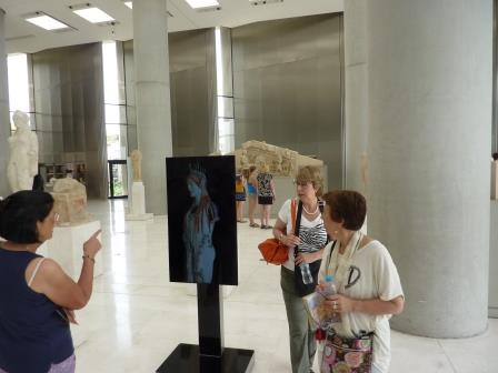 Acropolis Museum digital display